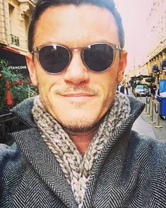 """31.5k Likes, 220 Comments - @thereallukeevans on Instagram: """"Ready for the fresh Paris weather with this beaut of a scarf, knitted for me by the multi-talented…"""""""