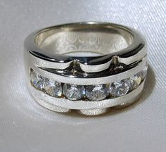 Vintage Sterling Silver ChannelSet Round by InVogueJewelry on Etsy, $45.00