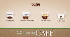 Receitas de café: capuccino, mocha, cremoso e mais tipos; conheça - Bolsa de Mulher