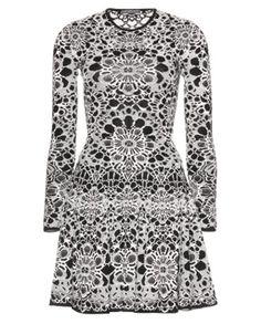 ALEXANDER MCQUEEN • Intarsia knit dress