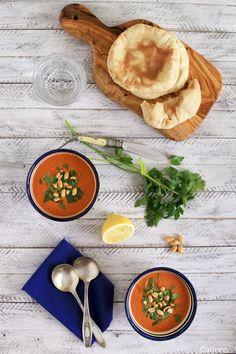 Sopa fría marroquí de tomate - No quieres caldo? ... Pues toma 2 tazas.