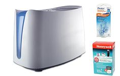 Honeywell HCM350W UV Germ Free Cool Moisture Humidifier and Honeywell HAC-504AW Humidifier Filter, and PC2V1 Humidifier Cleaning Cartridge Bundle #Honeywell #HCMW #Germ #Free #Cool #Moisture #Humidifier #Filter, #Cleaning #Cartridge #Bundle
