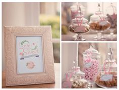 Midsummer Dream sweet table stationery by Paperknots. Photography by Hannah McClune