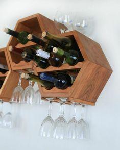 DIY wine racks in wood