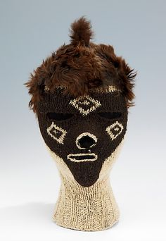 Pinata Party, Inc. Ski mask, ca. 1960. Peruvian. The Metropolitan Museum of Art, New York. Brooklyn Museum Costume Collection at The Metropolitan Museum of Art, Gift of the Brooklyn Museum, 2009; Gift of Clare E. Walker, 1967 (2009.300.2575)   Despite the name, piñatas constituted only a very small portion of their stock. Their most successful items were fur hats and slippers, and ski masks. #olympics #skiing