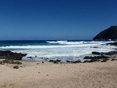 By the sea side, coastline of Oahu Hawaii