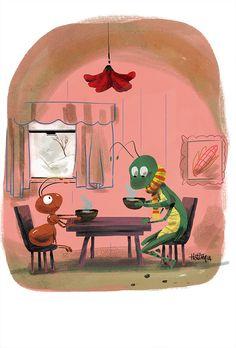 Ant & Grasshopper on Behance