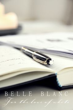 Journaling with a MontBlanc pen - swoon