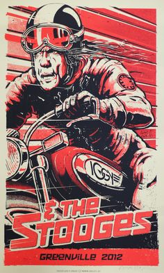 IGGY and The Stooges poster - Lars P. Krause