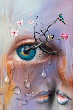 Ideas For Eye Artwork Surrealism Pictures Trippy Eye, Butterfly Eyes, Eyes Artwork, 1 Gif, Futuristic Art, Cartoon Sketches, Goth Art, Fantasy Illustration, Eye Art
