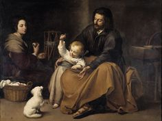 Global Gallery 'Holy Family with a Bird' by Bartolome Esteban Murillo Framed Painting Print Size: Painting Frames, Painting Prints, Oil Paintings, Canvas Prints, Baby Sparrow, Esteban Murillo, Jesus E Maria, National Gallery, Prayer For Family