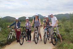 Cycling to Thuy Bieu Village