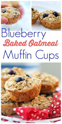 These Blueberry Baked Oatmeal Cups recipe are super quick to prepare and make a great healthy breakfast option! They are like oatmeal in portable muffin form! NO flour, NO oil, NO refined sugar! This is one of my favorite breakfast recipes.