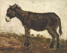 John Constable - A study of a donkey
