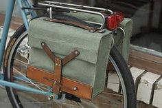 Swiss Army surplus bag panniers.
