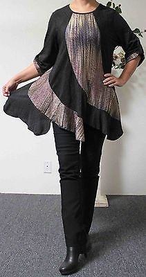New Plus size top, Plus size tunic, Lagenlook top, High End fabric with details