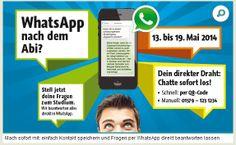 #WhatsApp nach dem Abi? – Berufsorientierung jetzt auch via WhatsApp! War nur Frage der Zeit, wann´s der erste macht.   Da steckt auch einiges an Potential für das Personalmarketing drin!