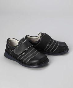 Look at this #zulilyfind! Pippytoes Black Stripe Stitch Loafer by Pippytoes #zulilyfinds