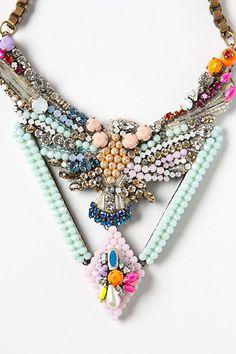 @Francene Mickelsen Mickelsen Mickelsen Perel: Beaded Phoenix #Necklace #anthropologie