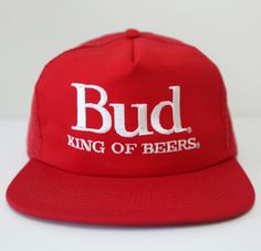 Vintage 90 s Budweiser King of Beers Snapback Hat bb652e77a4e2