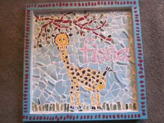 Gorgeous mosaic I made for my friend's 1 year old daughter!