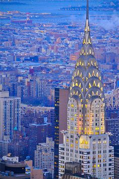 The Chrysler Building built in 1939- a superb example of Art Deco architecture