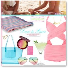 Love all of this. Pool Party by tanyaf1 on Polyvore featuring Norma Kamali, J.Crew, Sydney Evan, Minnie Grace, Paul & Joe Beaute, Accessorize and Victoria's Secret
