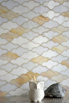 Clouds jewel glass mosaic in Opal, Agate, and Moonstone | The Erin Adams Collection | New Ravenna