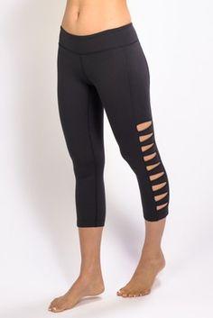 Warrior Tough Cut Yoga Legging (Black)