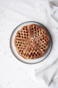 oat buckwheat banana waffles