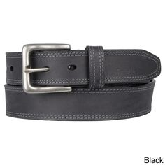 Timberland Men's Topstitched Genuine Leather Belt - Overstock™ Shopping - Great Deals on Timberland Men's Belts size: 36