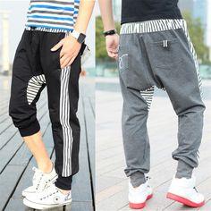 Fashion Harem baggy trousers,Casual Athletic sweatpants,hip hop dancing pants trousers,brief stripe designer, sports slacks