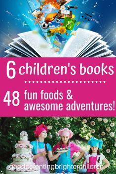 Here are 6 children's books including 48 amazing ideas, lessons, activities & recipes for kids! Create memory-building excitement as your family eats and learns your way through some of the best children's books! #childrensbooks #childrensbooksreading #childrensbookskids #childrensbooksfun #childrensbookslearning #classic #childrensbooksbest #best