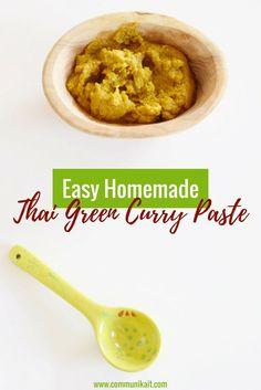 Easy Homemade Thai Green Curry Paste