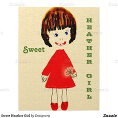 Sweet Heather Girl Puzzle