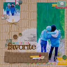 You're My Favorite - by Kimberly Neddo using the Amy Tangerine Ready Set Go collection from American Crafts. #scrapbooking