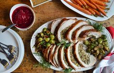 Start a New (Mouthwatering) Tradition With Andrew Zimmern's Boneless Stuffed Turkey Breast Thanksgiving Recipes, Holiday Recipes, Dinner Recipes, Thanksgiving Feast, Holiday Meals, Cajun Turkey, Specialty Meats, Breast Recipe, Turkey Breast
