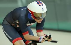 Megan Giglia of Great Britain compets during womens C1-2-3 3000m individual pursuit track cycling on day 1 of the Rio 2016 Paralympic Games the Olympic Velodrome on September 8, 2016 in Rio de Janeiro, Rio de Janeiro.