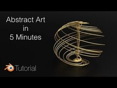 Tutorial: Beautiful Abstract Shapes In Blender - YouTube