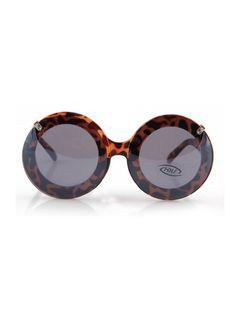Leopard Fashion Double Lens Round Frame Sunglasses