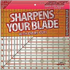 "The Cutting EDGE Clear Ruler-12-1/2""X12-1/2"""