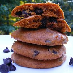 "Pumpkin Chocolate Chip Cookies III | ""If you like pumpkin pie and chocolate, you'll love these cookies. I think they taste best when they are cold from the refrigerator."""