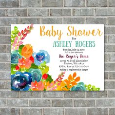 A personal favorite from my Etsy shop https://www.etsy.com/listing/243195939/baby-shower-invitation-watercolor