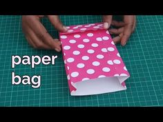 How to make paper bag at home , paper bag , paper shopping bag, paper art and craft ideas Handmade tutorial, paper bag making ideas Paper Bag Books, Paper Bag Crafts, Paper Bag Album, Paper Crafts Origami, Paper Gift Bags, Paper Gifts, Diy Crafts, Garrafa Coca Cola, Bag Sewing Pattern