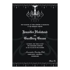 Chandelier Elegant Wedding Invitation