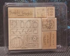 Stampin' Up! Retired THOROUGHLY THANKFUL WM Stamps Thanksgiving Gratitude in Crafts, Stamping & Embossing, Stamps | eBay