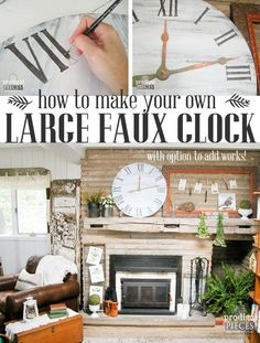 How to Make a Large Faux Clock for less than $10 for Rustic Farmhouse Style Decor by Prodigal Pieces | www.prodigalpieces.com