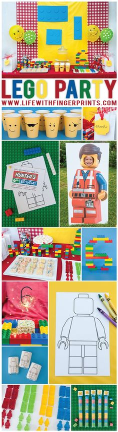 Throw your child the best party ever with these fun Lego party ideas. Everything is covered from the invites and food to games and decor (Best Birthday Games)