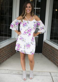 You're sure to turn heads in this dress! Perfect for any summer occasion! Hannah is shown wearing a small. *Fits true to size