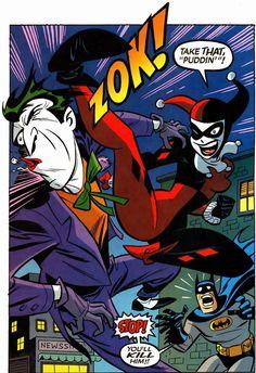 The Joker, Harley Quinn and Batman